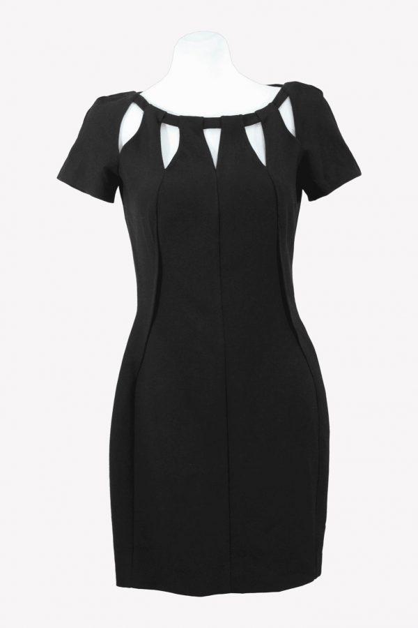 Versace Etuikleid in Schwarz aus Polyester Alle Jahreszeiten.1
