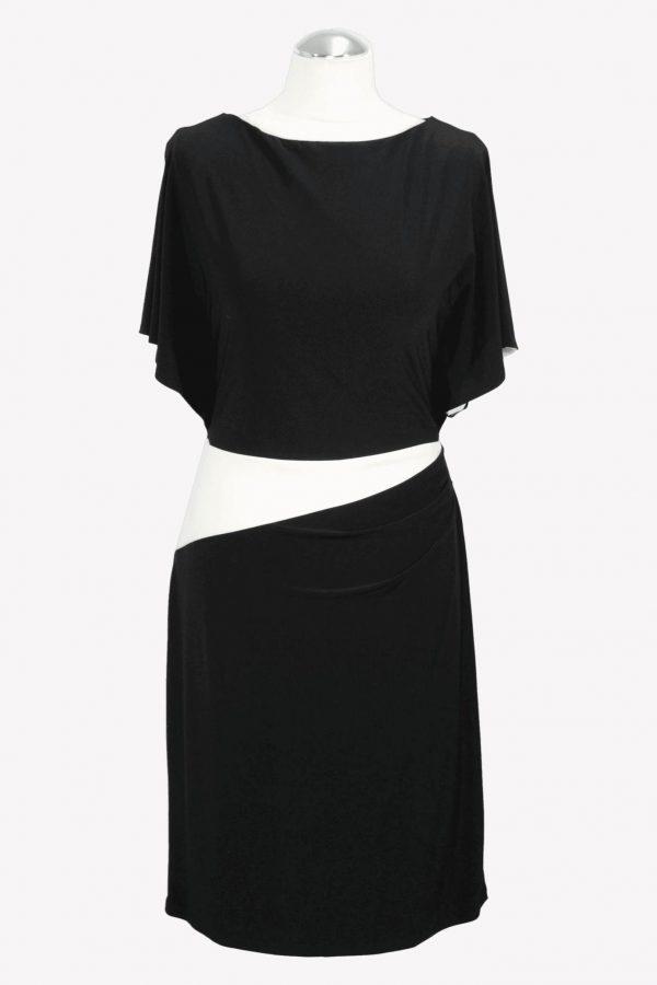 Ralph Lauren Shiftkleid in Schwarz / Weiß aus Polyester Alle Jahreszeiten.1