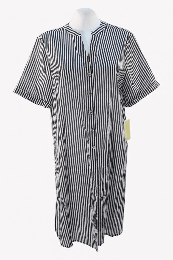 Michael Kors Badekleid in Schwarz / Weiß aus Baumwolle.1