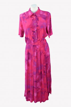 Anna Maxwell Shirtkleid in Rosa aus Viskose Frühjahr / Sommer.1