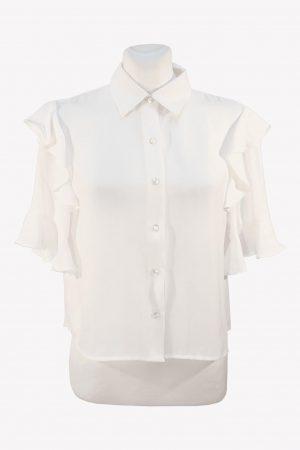 The Kooples Bluse in Weiß aus Polyester Alle Jahreszeiten.1