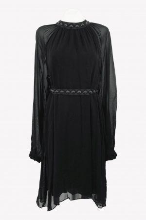 Antik Batik Shiftkleid in Schwarz aus Viskose Alle Jahreszeiten.1