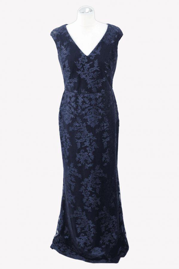 Ralph Lauren Maxikleid in Blau aus Nylon Alle Jahreszeiten.1