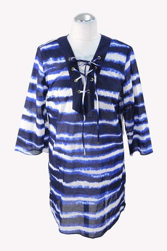 Michael Kors Badekleid in Blau aus Baumwolle.1