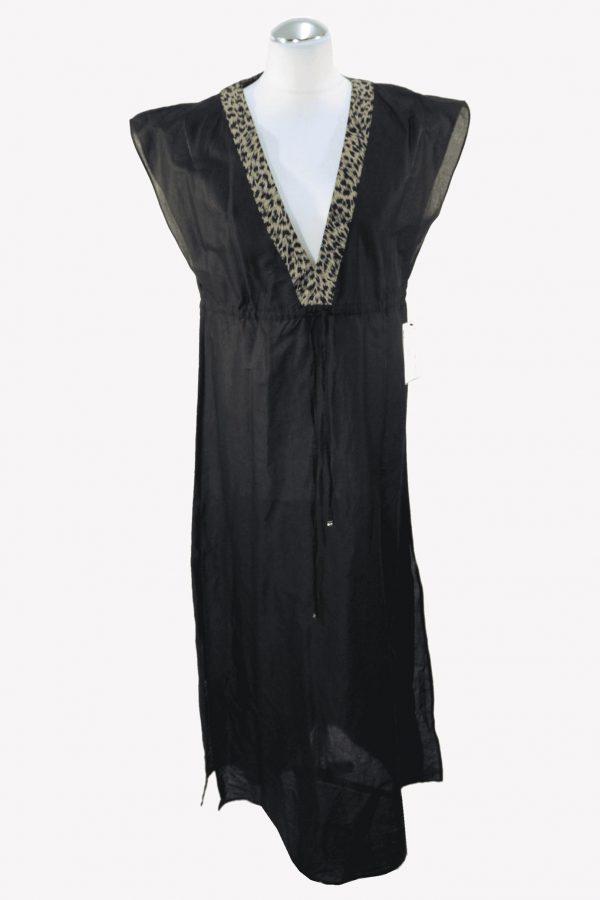 Michael Kors Badekleid in Schwarz aus Baumwolle.1
