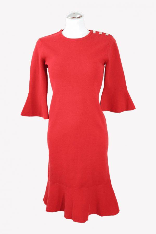 Ralph Lauren Pulloverkleid in Rot aus Baumwolle aus Baumwolle Alle Jahreszeiten.1