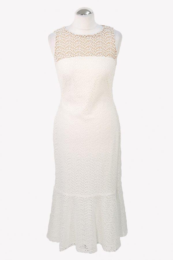 Ralph Lauren Maxikleid in Weiß aus Polyester Alle Jahreszeiten.1