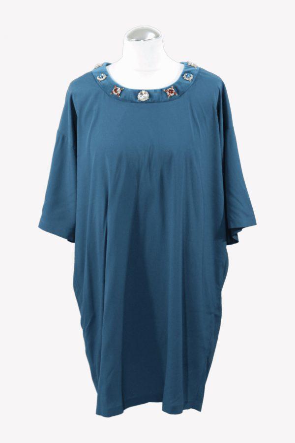 Love Moschino Shiftkleid in Blau aus Acetat Frühjahr / Sommer.1