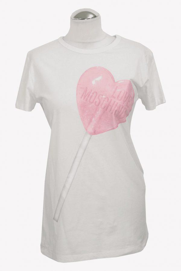 Love Moschino T-Shirt in Weiß aus Baumwolle aus Baumwolle Alle Jahreszeiten.1