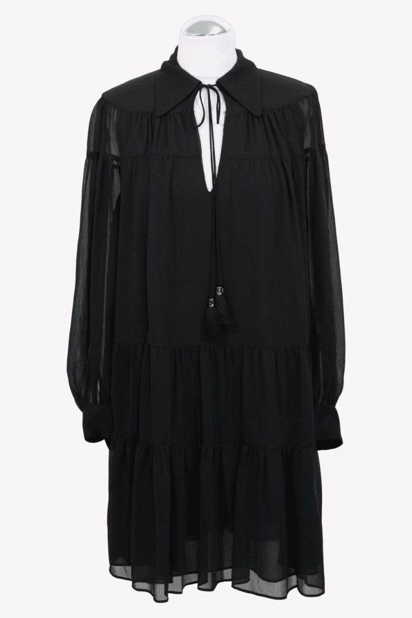 Michael Kors Shirtkleid in Schwarz aus Polyester Alle Jahreszeiten.1