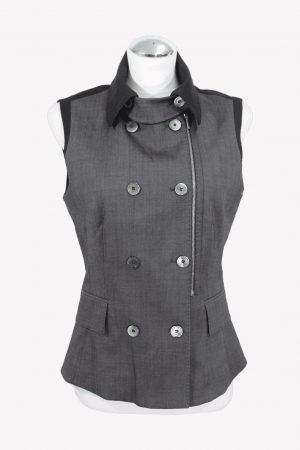 Karen Millen Weste in Grau aus Wolle aus Wolle Alle Jahreszeiten.1