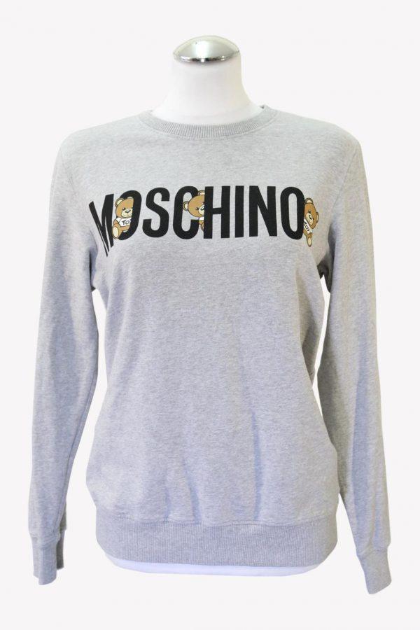 Moschino Pullover in Grau aus Baumwolle aus Baumwolle Alle Jahreszeiten.1