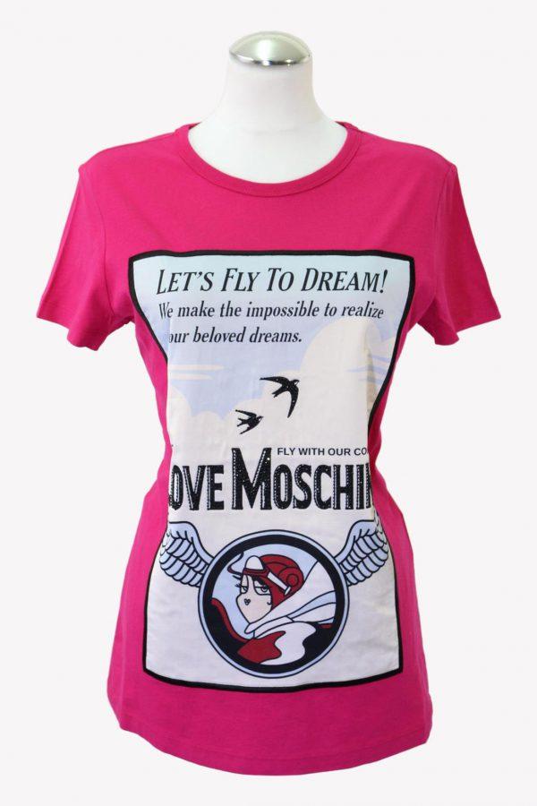 Love Moschino T-Shirt in Rosa aus Baumwolle aus Baumwolle Alle Jahreszeiten.1