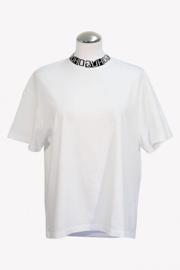 Hugo Boss T-Shirt in Weiß aus Baumwolle aus Baumwolle Alle Jahreszeiten.1
