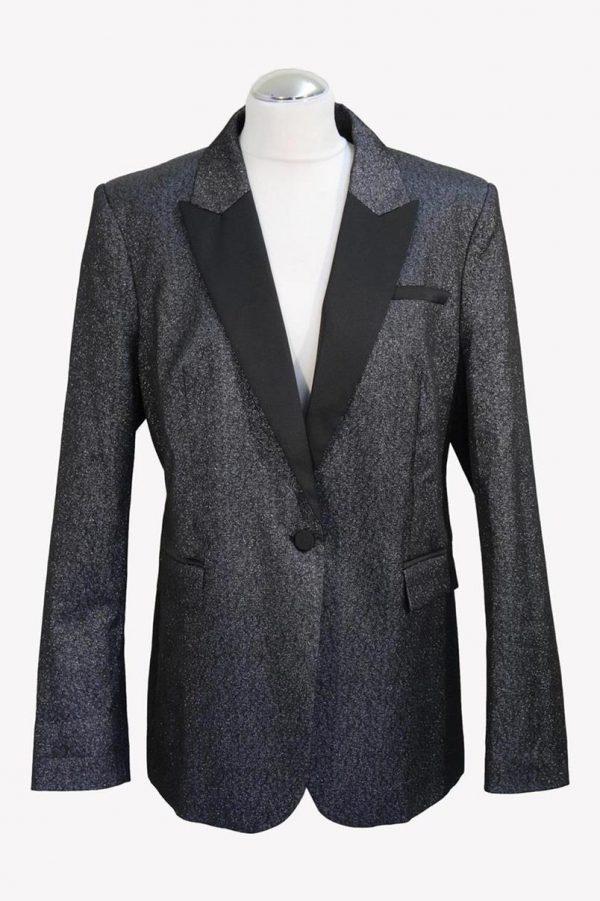 Karl Lagerfeld Blazer in Silber aus Polyester Alle Jahreszeiten.1