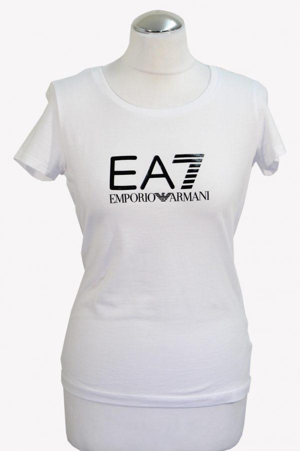 Emporio Armani T-Shirt in Weiß aus Baumwolle aus Baumwolle Alle Jahreszeiten.1