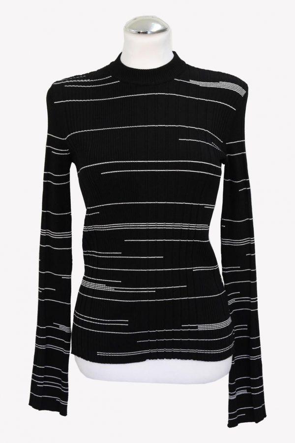 Hugo Boss Pullover in Schwarz / Weiß aus Viskose Alle Jahreszeiten.1