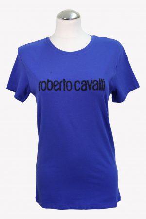 Roberto Cavalli T-Shirt in Blau aus Baumwolle aus Baumwolle Alle Jahreszeiten.1