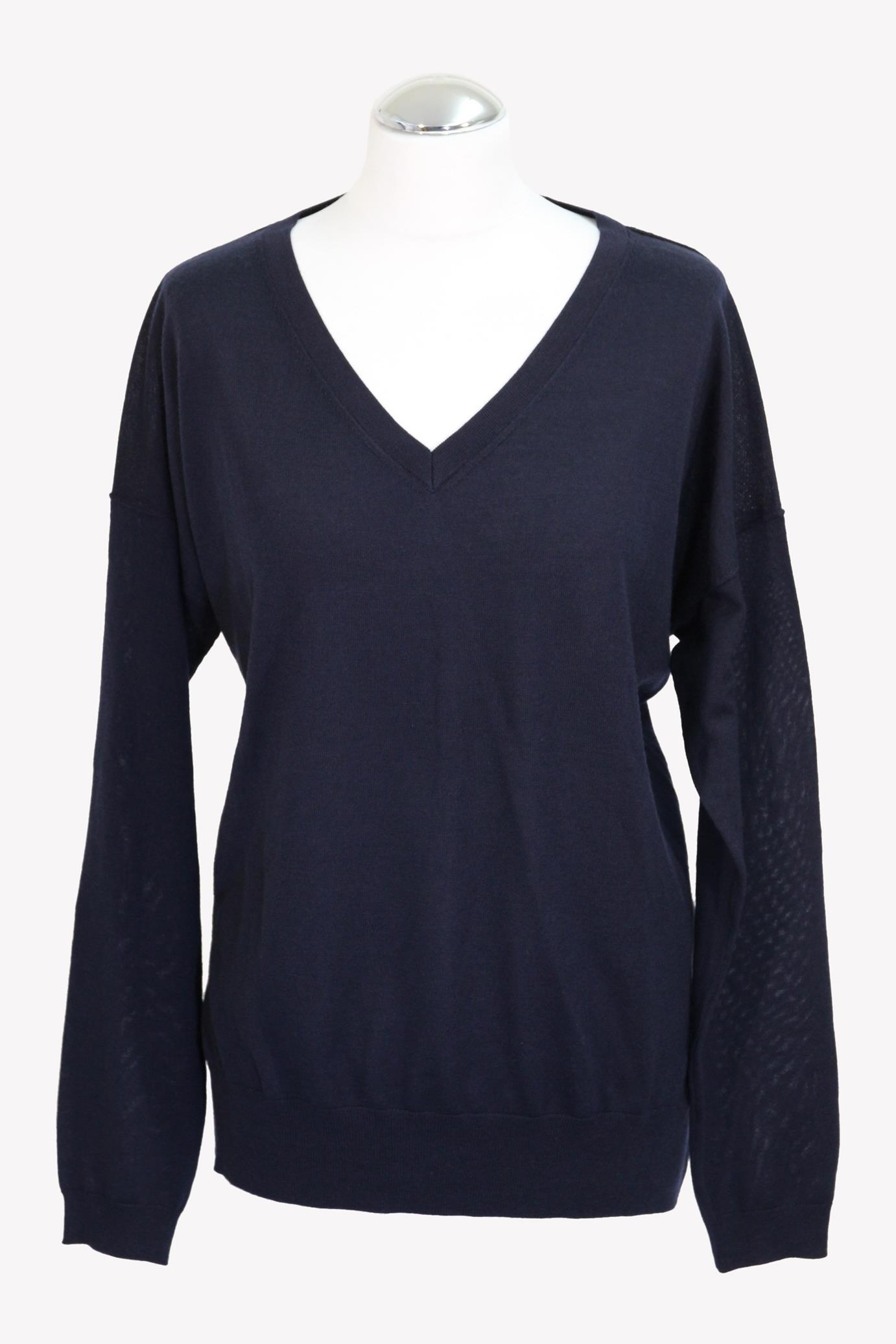 Pullover in Blau aus Wolle Closed