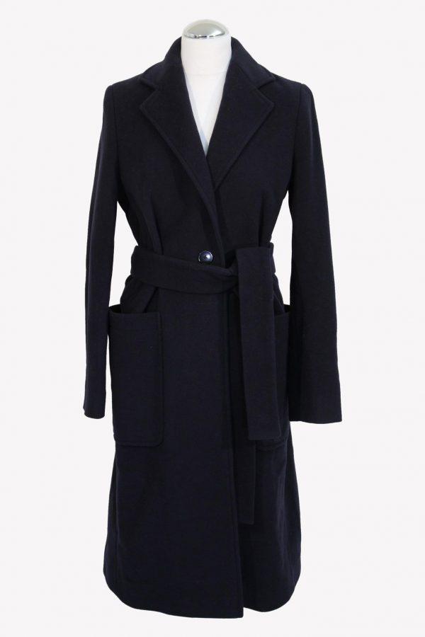 Hugo Boss Mantel in Blau aus Wolle aus Wolle Herbst / Winter.1