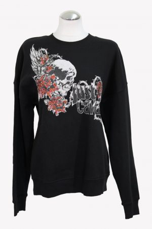 Just Cavalli Pullover in Schwarz aus Baumwolle aus Baumwolle Alle Jahreszeiten.1