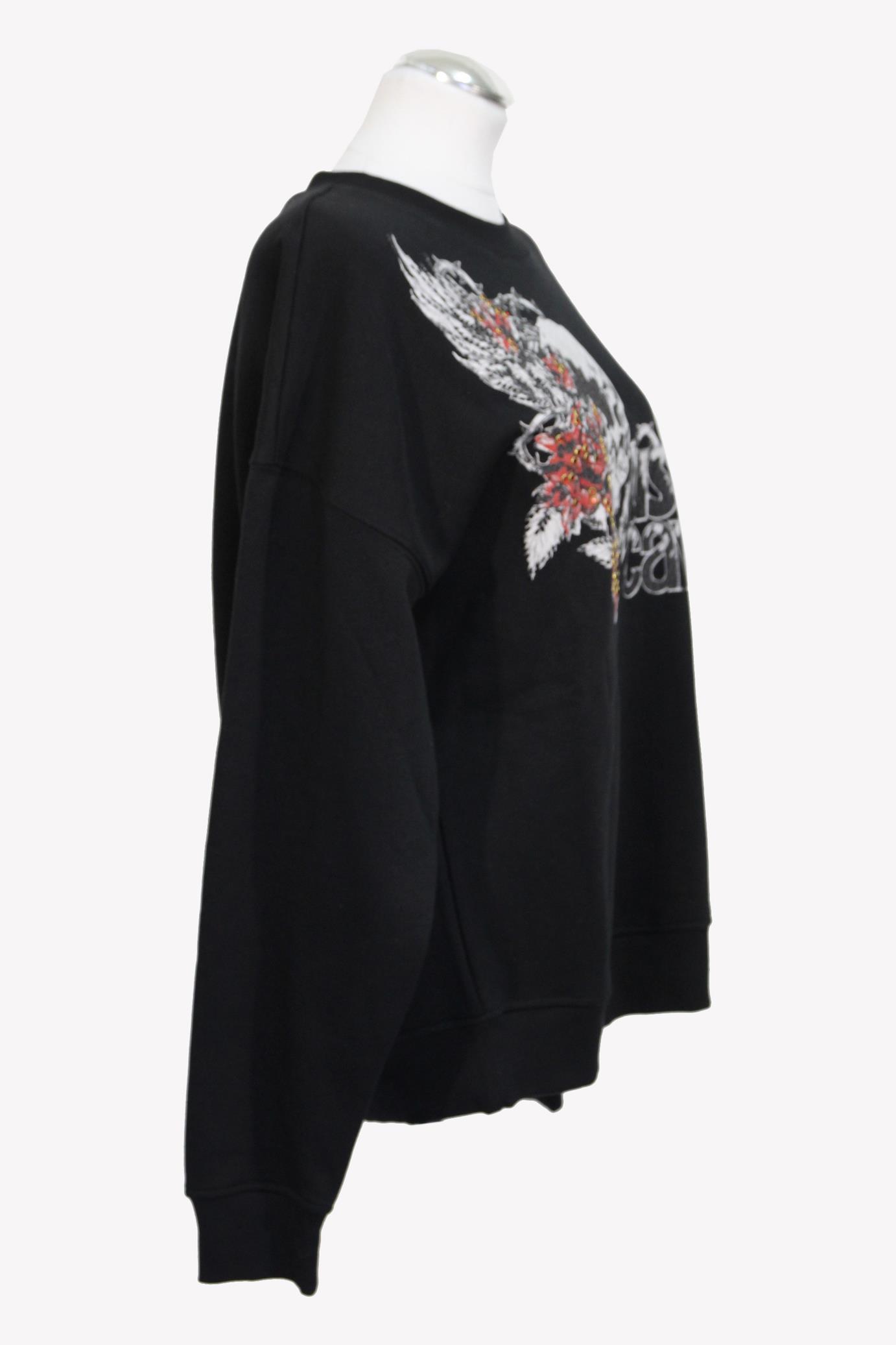 Pullover in Schwarz aus Baumwolle Just Cavalli