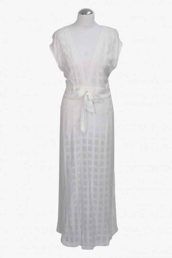 Ralph Lauren Maxikleid in Weiß aus Viskose Frühjahr / Sommer.1