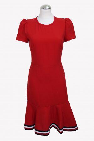 Tommy Hilfiger Shiftkleid in Rot aus Polyester Alle Jahreszeiten.1