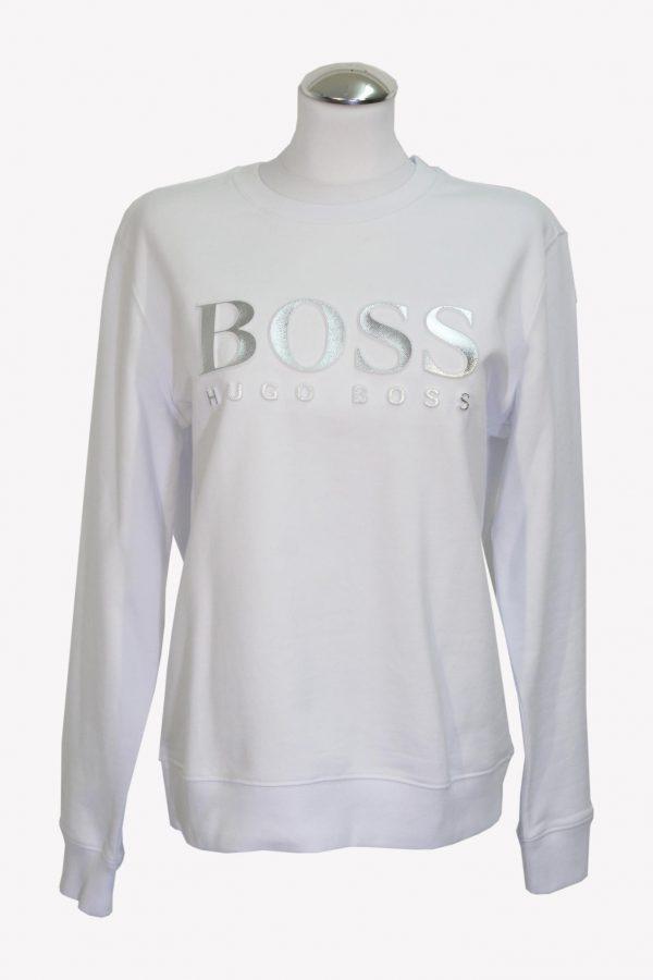 Hugo Boss Pullover in Weiß aus Baumwolle aus Baumwolle Alle Jahreszeiten.1