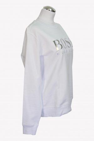 Pullover in Weiß aus Baumwolle Hugo Boss