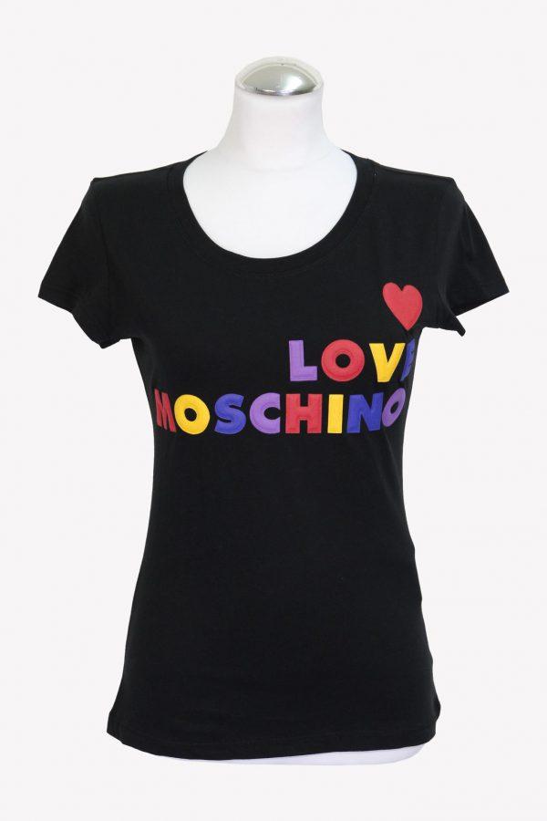Love Moschino T-Shirt in Schwarz aus Baumwolle aus Baumwolle Alle Jahreszeiten.1