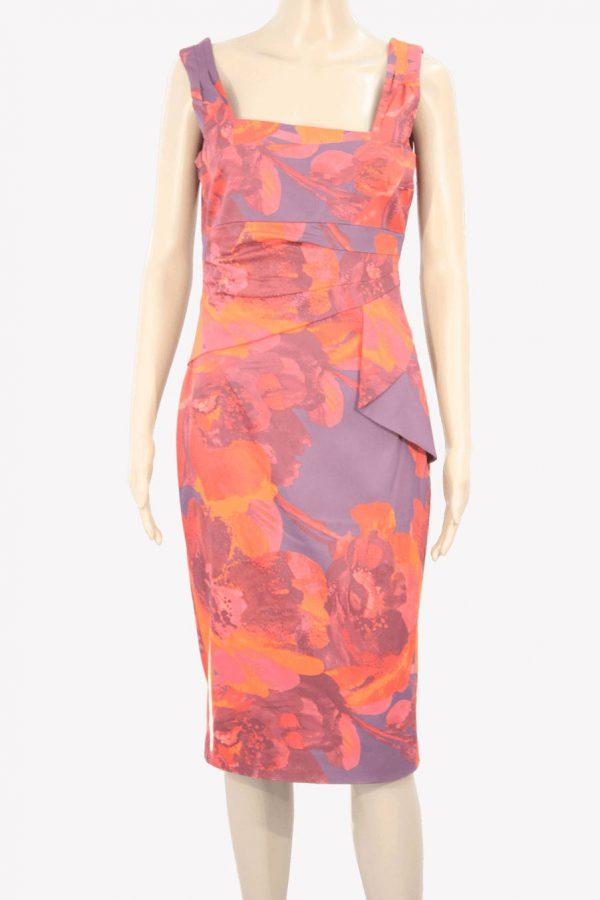 Karen Millen Kleid mit Muster in Rot aus Polyester Frühjahr / Sommer.1