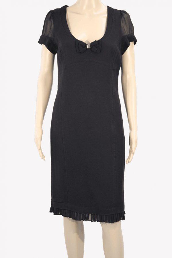 Karen Millen Kleid in Schwarz aus Viskose Alle Jahreszeiten.1