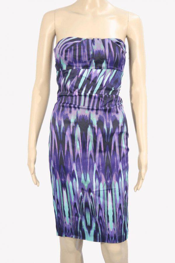 Karen Millen Kleid mit Muster aus Acetat Frühjahr / Sommer.1