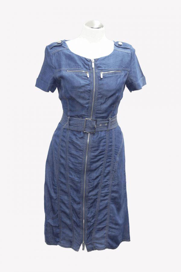 Karen Millen Jeanskleid in Blau aus Polyester Alle Jahreszeiten.1