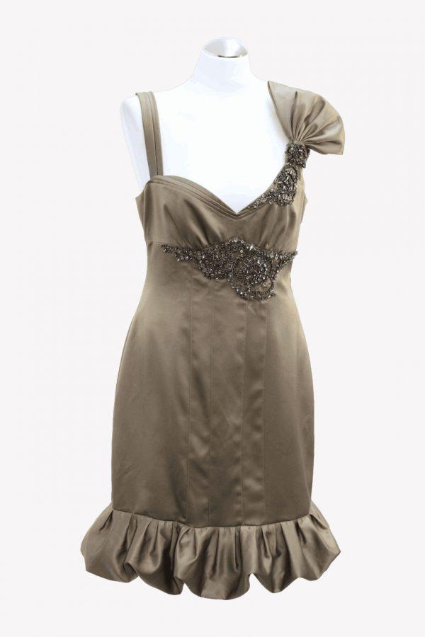 Karen Millen Kleid in Gold aus Polyester Alle Jahreszeiten.1