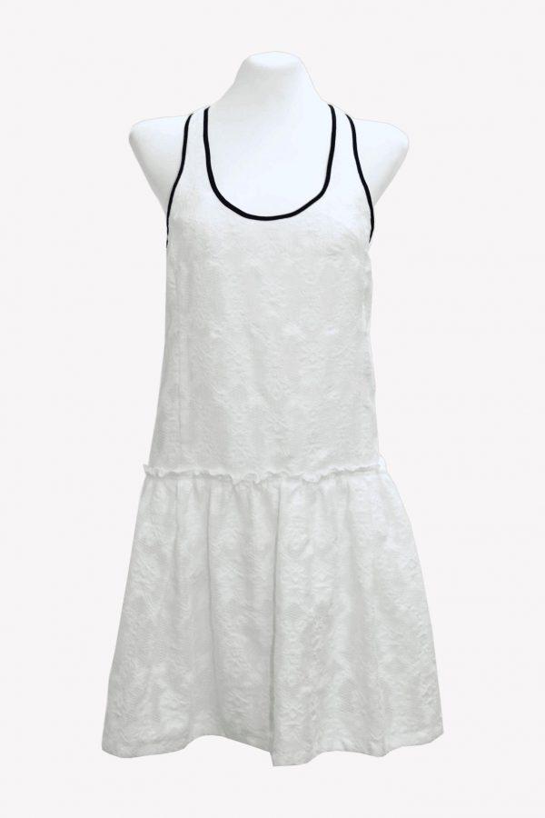 Karen Millen Kleid in Creme aus Baumwolle Frühjahr / Sommer.1