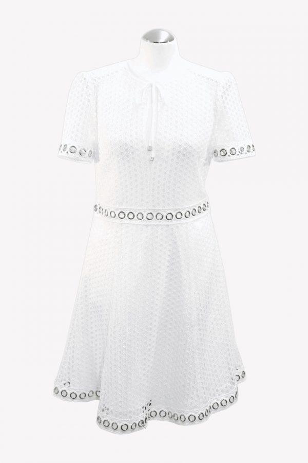 Michael Kors Spitzenkleid in Weiß aus Polyester Alle Jahreszeiten.1