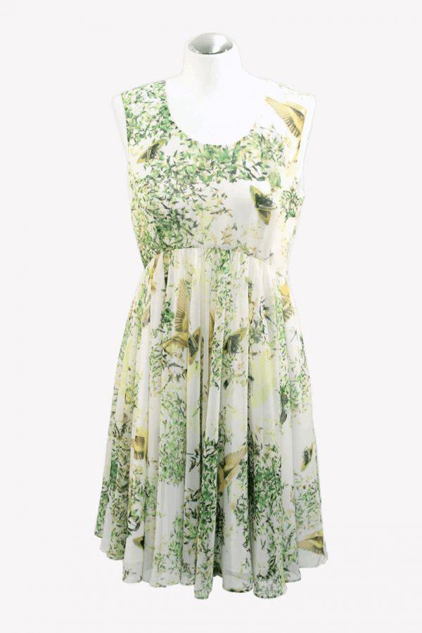 Ted Baker Kleid mit Muster aus Polyester Frühjahr / Sommer.1