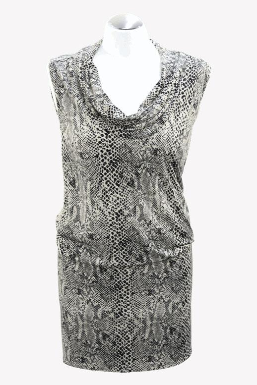 Michael Kors Kleid mit Tiermuster aus Polyester Alle Jahreszeiten.1