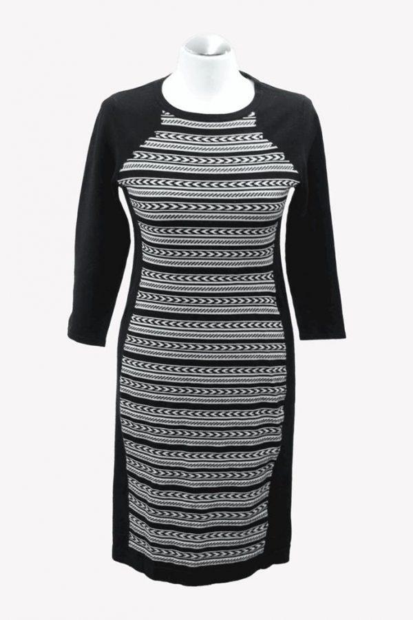 Karen Millen Strickkleid mit Muster aus Viskose Alle Jahreszeiten.1