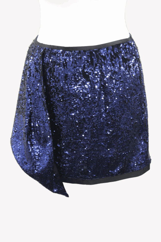 Karen Millen Paillettenrock in Blau aus Polyester Alle Jahreszeiten.1