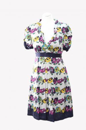 Ted Baker Seidenkleid mit Muster aus Seide Alle Jahreszeiten.1