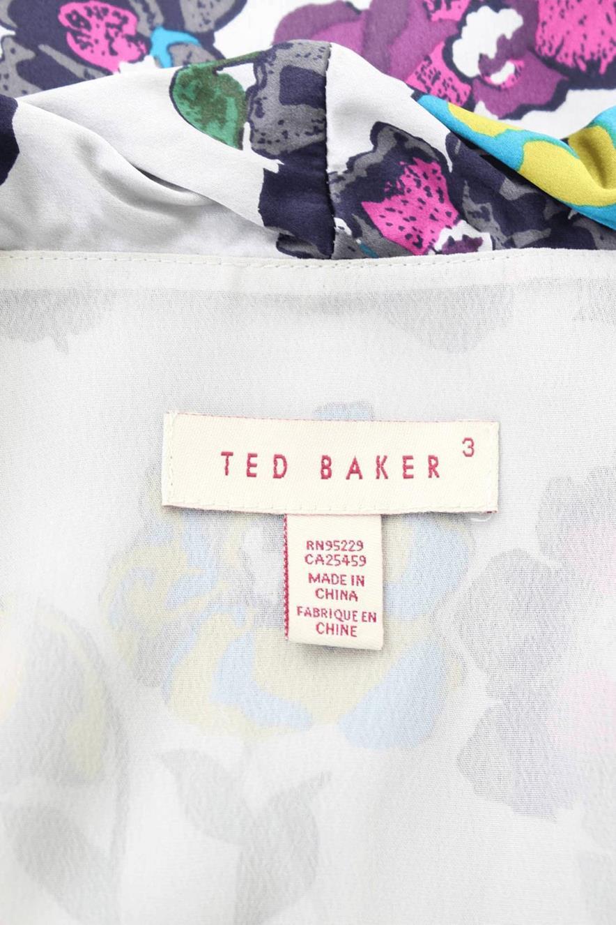 Seidenkleid mit Muster Ted Baker