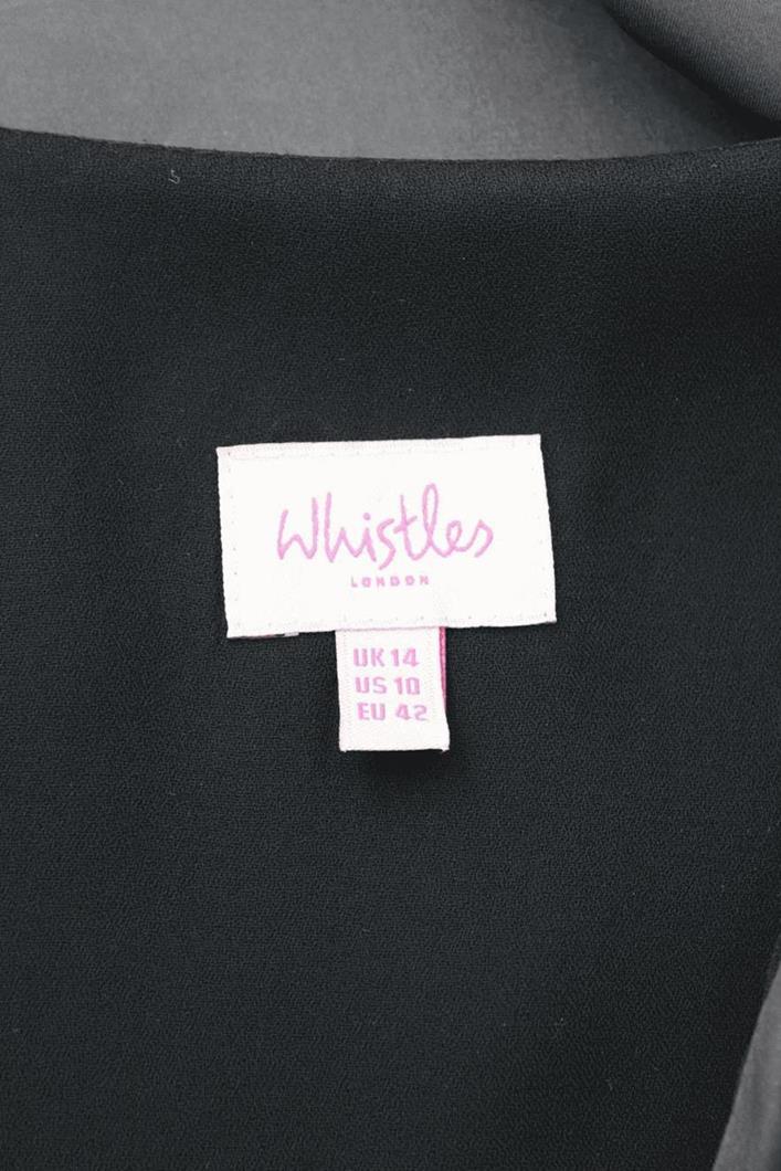 Seidenkleid in Grau Whistles