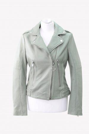 Gipsy Lederjacke in Grün aus Leder Alle Jahreszeiten.1