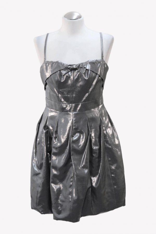 Karen Millen Kleid in Silber aus Viskose Alle Jahreszeiten.1