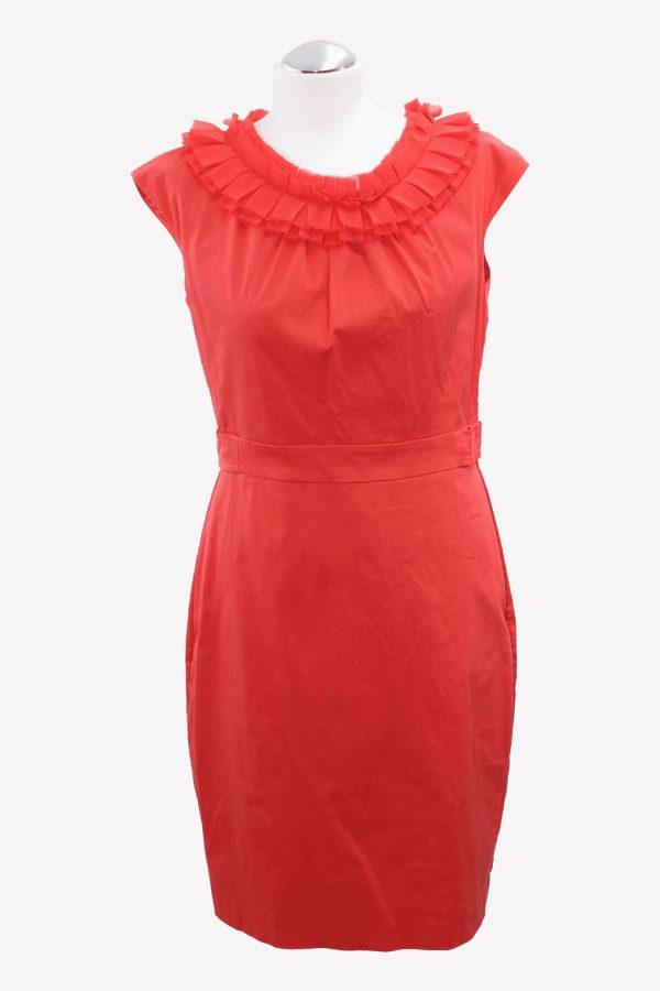 Ted Baker Kleid in Korallrot aus Baumwolle Frühjahr / Sommer.1