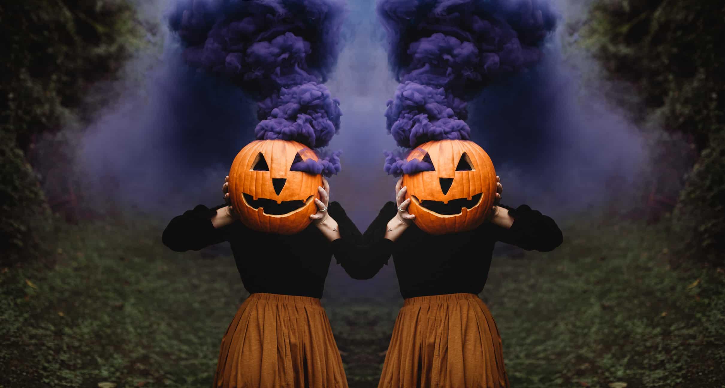 Halloween Style Inspo; Smoke Bomb Pumpkin