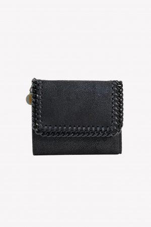 Stella McCartney Portemonnaie in Schwarz aus Recycling-Polyester .1